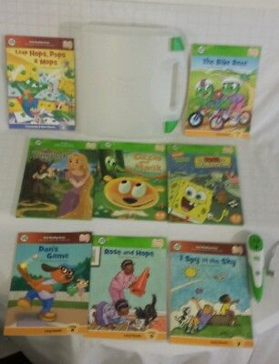 Lot of 8 LeapFrog Tag Reader Books & Stylus Pen case (USED) very nice
