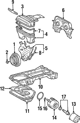 TOYOTA OEM 93-96 Supra 3.0L-L6 Engine-Oil Cooler Seal 9030161003