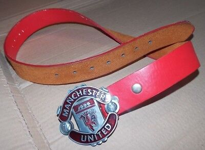 Manchester United Football Club Leather Belt Size Small