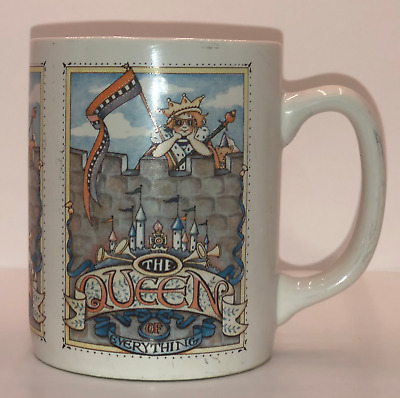 Vintage Mary Engelbreit The Queen of Everything Mug Coffee Cup ME Ink