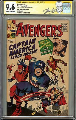 Avengers #4 CGC 9.6 NM+ Signed STAN LEE Captain America 1st Silver Age app GRR