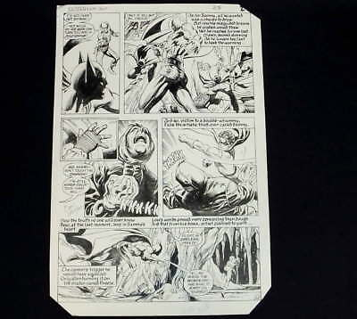 Original Don Newton Alfredo Alcala Art Batman Comic #375 Mr. Freeze Signed 1983