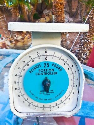 vintage Pelouse 25 lb. portion control scale model YG-425 1956 Evans, Illinois