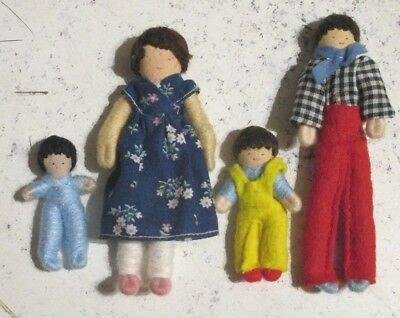 vintage* HALFPENNY * DOLLS HOUSE DOLL FAMILY - 16th scale Lundby size