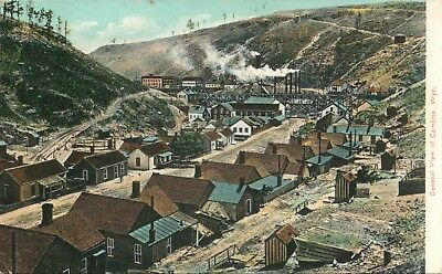 Cambria, Wyoming-BEV-Mining Ghost Town-Buildings WY c1907 Litho Postcard
