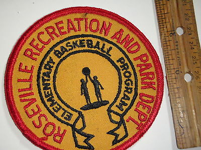 Vintage  Roseville Recreation And Parks Department   Patch 1960's   Bx P 16