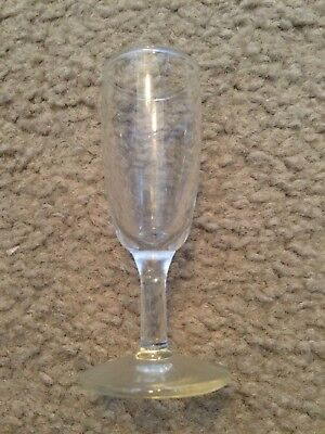 "Clear Glass mini cordial wine shot glass 4"" tall"