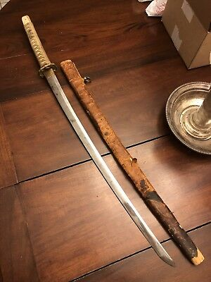 Ww2 Japanese Type 98 Shin Gunto Officers Sword Leather Combat Cover Wwii Blade