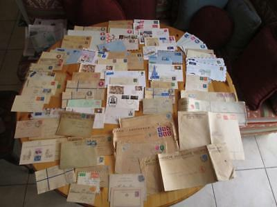 Table Full Of Mostly Europe/Britain Covers- Old, Modern, FDCs, Oversize (AS113)