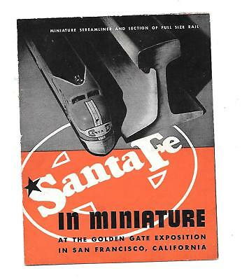 1939-40 Ggie  Santa Fe Rr In Miniature Booklet 4 Pages