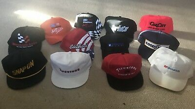 Lot Of 12 Automotive Car Hats Trucker Style Vintage