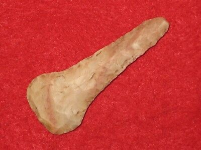 Authentic Native American artifact arrowhead Missouri paddle drill C8