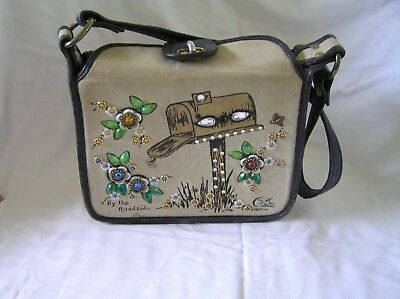 Enid Collins BY THE ROADSIDE Canvas Purse Bags Vintage