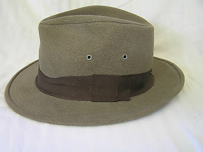 Country Gentleman Traveler Men's Fedora Hat, Canvas, Size L, Union Made USA