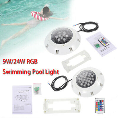 LED Swimming Underwater Pool Disco Light Hot Tub Spa Lamp 9W IP68 Remote Control