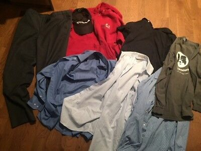 Mixed Lot Box Full Of Men's Clothes Medium Large Charity Auction