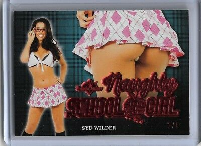 2018 Benchwarmer Hot For Teacher Syd Wilder Naughty School Girl Butt Card - 1/1