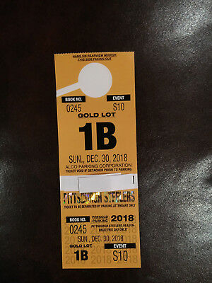 Steelers CIncinnati 12-30 Parking Pass Lot Gold 1B with tailgating avail