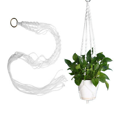 Home Flower Holder Hanging Basket Handcrafted Braided Macrame Rope Plant Hanger