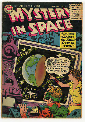 JERRY WEIST ESTATE: MYSTERY IN SPACE #31 (DC 1956) VG condition NO RES