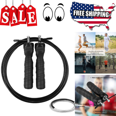 WORKOUT JUMP ROPE Speed Skipping Crossfit Gym Aerobic Exercise Boxing Men Pro