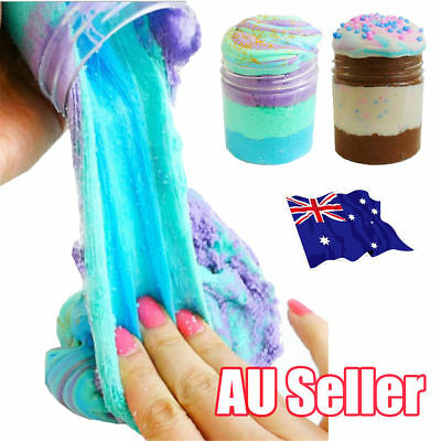 3 Colors Icecream Cloud slime Reduced Pressure Mud Stress Relief Kids Clay Toy J