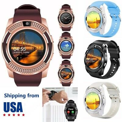 Bluetooth Smart Watch Wrist Phone Mate Round Touch Screen GSM Watch for Android