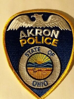 Akron Police State Of Ohio Patch  POLICE / SECURITY / LAW ENFORCEMENT