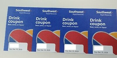 Southwest Air/Airlines 4 Drink Coupons