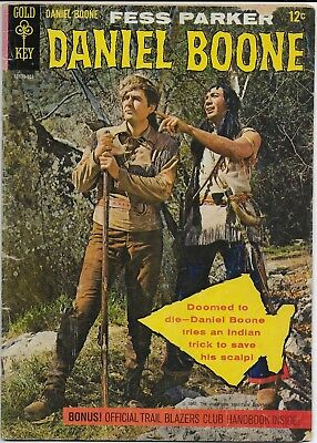 Daniel Boone   Gold Key Comics, No.1,  Copyright 1964  From the TV show