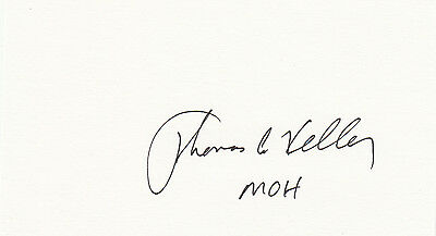 Thomas Kelley Vietnam Medal of Honor signed CARD AUTOGRAPHED