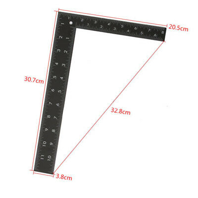 Metal Roofing Square Dual Marking Right Angle Picture Framing Carpenter Ruler UK