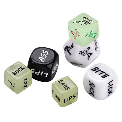 6X LOVERS DICE GAME! Saucy Adult FUN NAUGHTY GIFT Romantic Sex Aid 1GLOW IN DARK