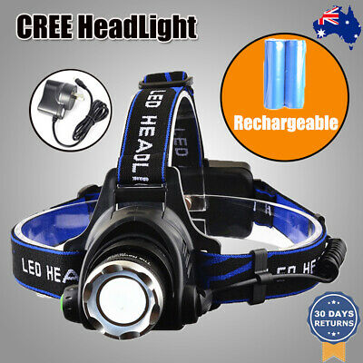 3Pcs NEW 35000LM LED Headlamp Rechargeable Headlight CREE XML T6 Torch Camping