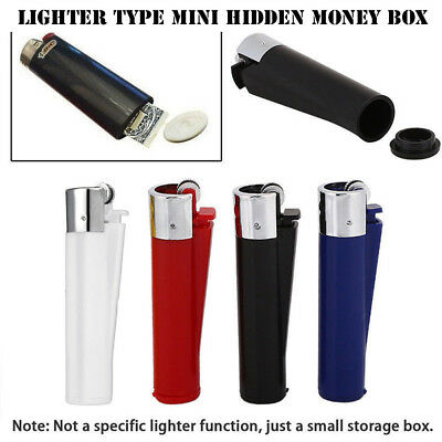 New Secret Stash Lighter Hidden Case Diversion Money Cash Safe Storage Pill Box~
