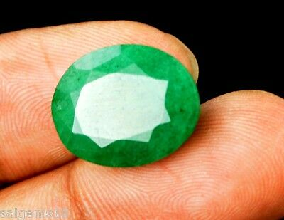 Green Emerald Loose Gemstone 11.25 Ct Exclusive Natural Oval Cut GGL Certified