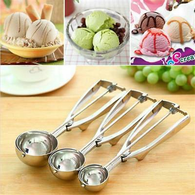 Stainless Steel Muffin Potato Spoon Ball Scoop Food 4cm 5cm 6cm For ICE Cream