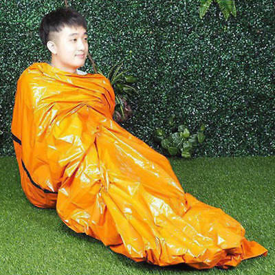 Reusable Emergency Sleeping Bag Thermal Waterproof Survival Camping Trav YJO