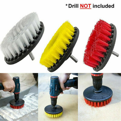 3pc Carpet  Round Brush w/Power Drill Attachment Car Care & Detailing Tool