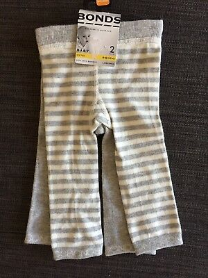 Bonds Stretchy Leggings 2 Pack Size 0 (6-12 Months) BNWT
