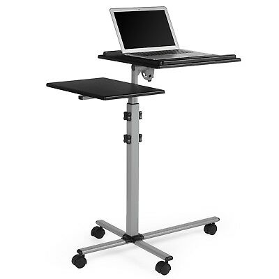 VonHaus Laptop + Projector Stand | Height Adjustable | Mobile / Portable Cart