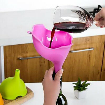 Household Food Grade Silicone Funnels Liquids Oils Waters Kitchen Tool 6A