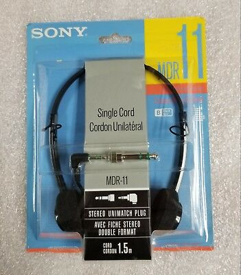 Vintage Sony MDR 11 Stereo Wired Headband Headphones 1980s Made in Japan