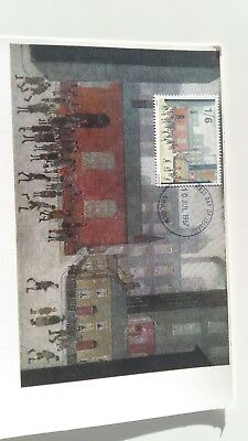 """""""Children Coming Out of School"""" by L.S Lowry illustrated on 1967 Stamp -"""