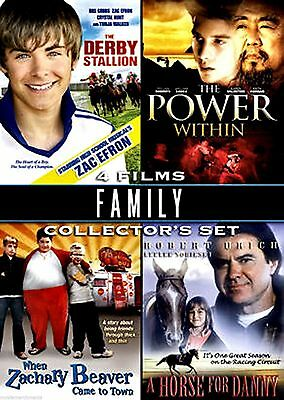 Family Collector's Set: 4 Films (DVD, 2009) Derby Stallion, Power Within, Horse
