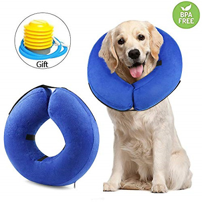 RAIN QUEEN Inflatable Protective Cone Collar for Dogs and Cats Ajustable Soft to
