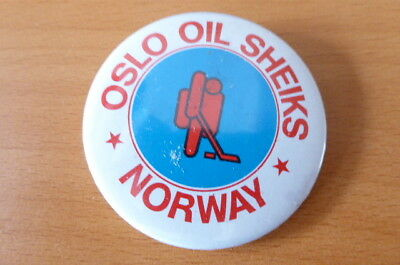 Oslo Oil Sheiks Norway Ice Hockey Badge