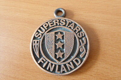 Old Superstars Finland Ice Hockey Lead Medallion