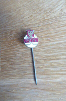 Vintage Pzhl Poland Ice Hockey Pin Badge