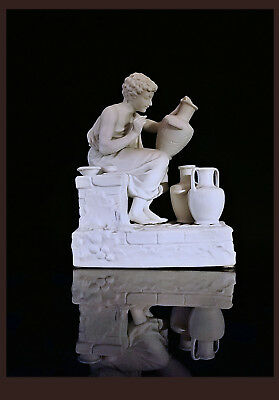"""""""The Potters"""" 1 Of A Pair Of Samson Bisque Porcelain Figures, FR 2nd Hlf. 19th C"""